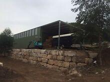 Sandstone boulders, blocks Maroota The Hills District Preview