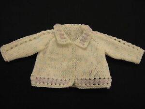 Premature Small Baby Collared Jacket Cardigan DK Knitting Pattern