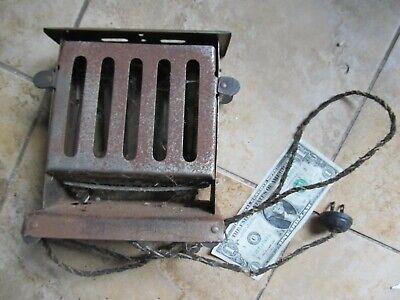 Unusual Antique Open Electric Toaster, c1920, Bread, Primitive Kitchen Appliance