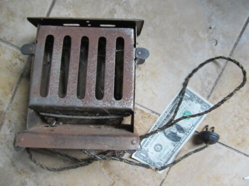 Unusual Antique Open Electric Toaster, c1920, Bread, Primitive Kitchen Appliance