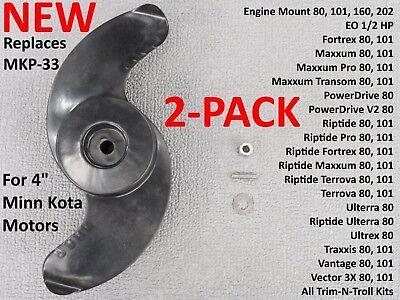 Used, 2 Trolling Motor Props for Minn Kota MKP33 E