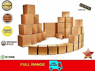 10 STRONG DOUBLE WALL CARDBOARD BOXES 12