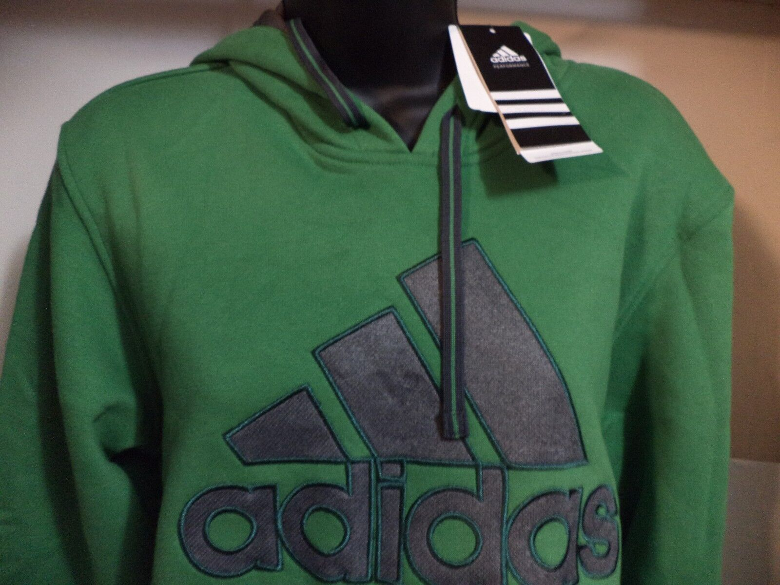 3XL adidas Performance Men Essential Heavyweight Fleece Pullover Hoodie Size S