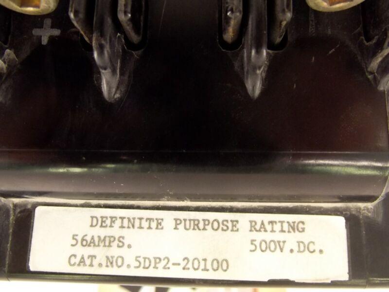 WARD LEONARD ELECTRIC 5DP2-20100 Definite purpose contactor 56A 500V DC 115v 50/