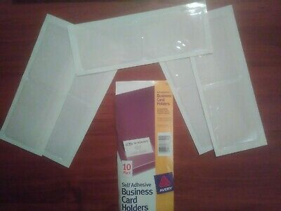 28 X Avery Self-adhesive Top-load Business Card Holders 3.5 X 2 Clear 10pk 73720