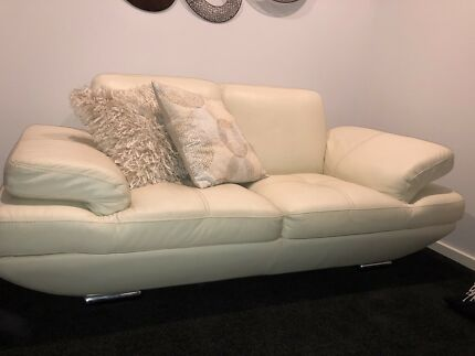 Domayne 2 Seater Leather Lounge