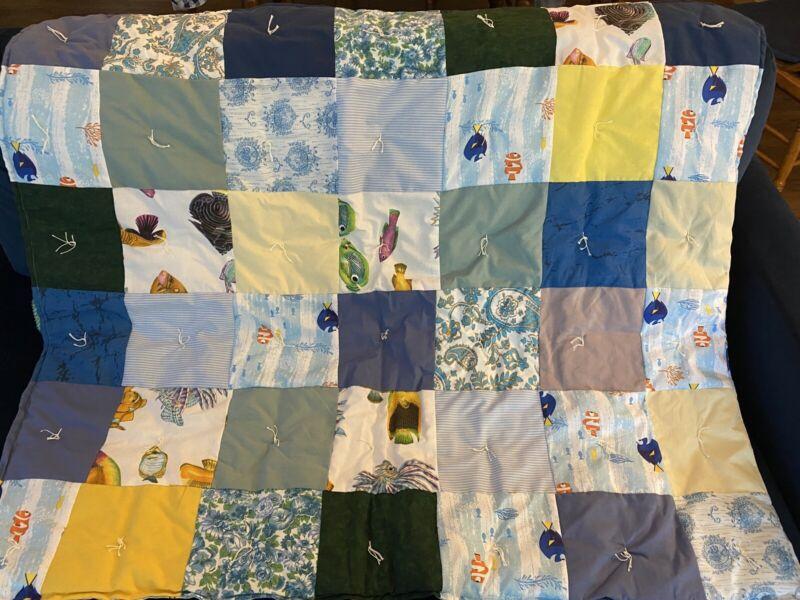 Handmade Infant/Toddler Under The Sea Quilt Blanket