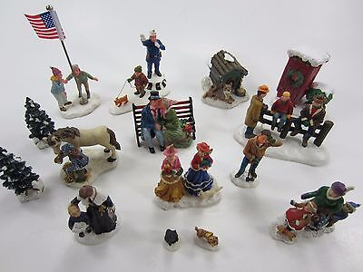 CAROLE TOWNE by LEMAX Figures People Christmas Village ACCESSORY Lot 4