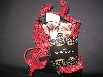 Devil Pet Cat Costume One Size fits All New with Tags ! - Devil Cat Costume