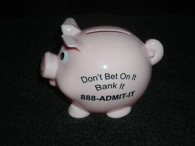 "DON'T BET ON IT BANK IT 888-ADMIT-IT 4"" PLASTIC PIGGY BANK TOY"