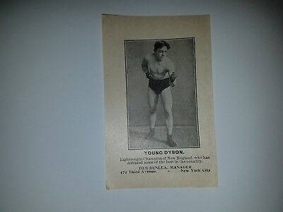Johnny Dundee & Young Dyson Boxing 1913 Police Gazette Supplement Illustration