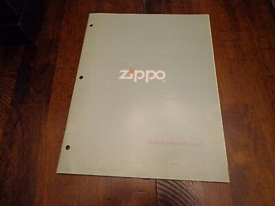 FULL SIZE ZIPPO LIGHTER CATALOG 1978 UNUSED