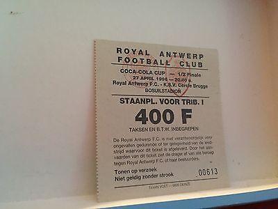 Football Ticket - Royal Antwerp - KSV Cercle Brugge - 1996