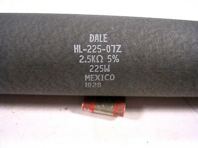 Dale Ww Power Resistor 225 Watts  2.5k Ohms Chassis Mount Used