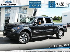 2014 Ford F-150 FX4**4X4*CUIR*TOIT*GPS*CAMERA *BLUETOOTH*A/C**