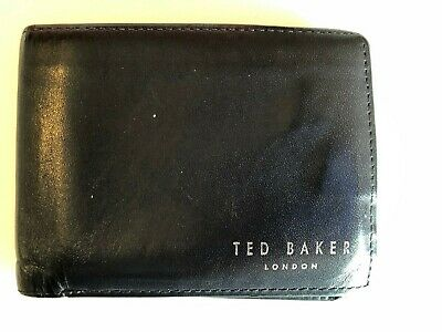 TED BAKER LONDON Luxury Natural Leather Bi-Fold Wallet  Baker Bi Fold Wallet