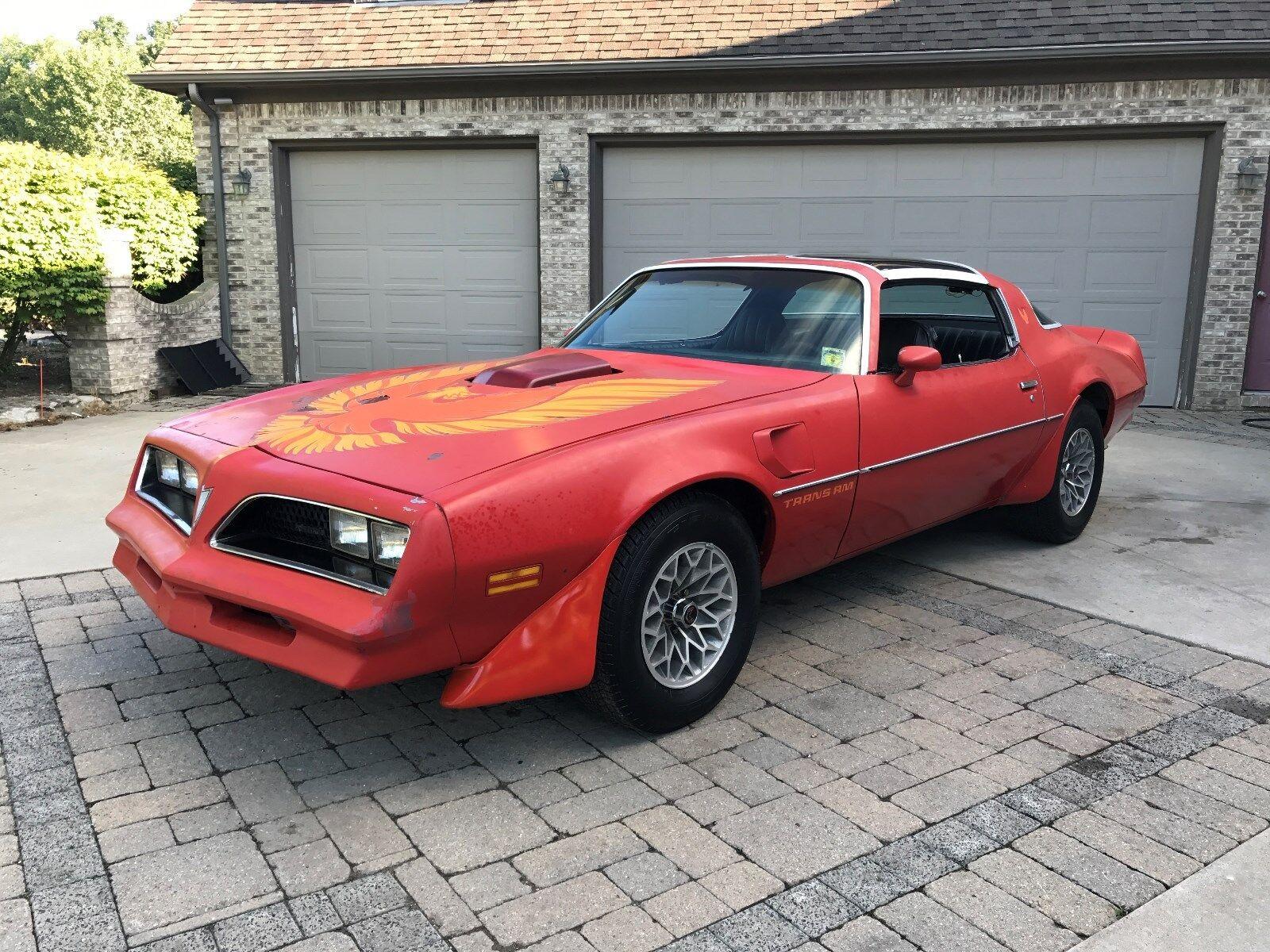 1977 Pontiac Trans Am : 1977 TRANS AM T-TOP CAR. GREAT CAR TO RESTORE