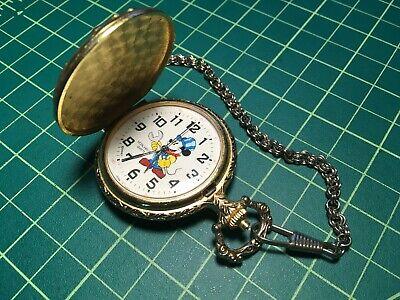 Mickey Mouse Verichron Quartz Pocket Watch from Disney Train Conductor Motif