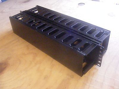 2U Horizontal Rack Mount Cable Management Unit with  Plastic 19