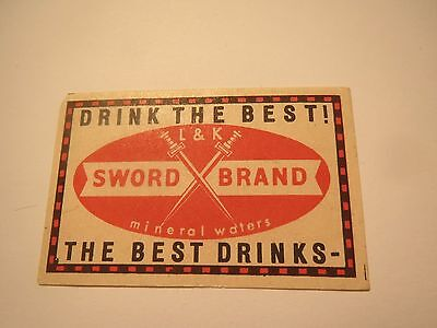 L & K Sword Brand mineral waters - Drink the best! /