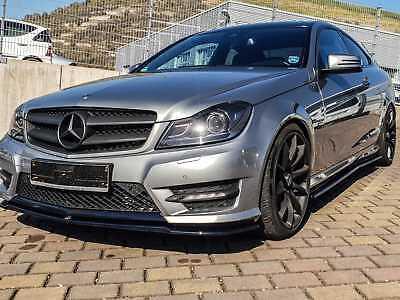 Mercedes W204 Frontspoiler Lippe Frontansatz Diffusor Amg Paket C Klasse Matt