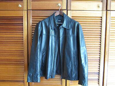 "Hugo Boss ""Clas-N"" Leather Jacket, Black, UK 46"" / ""Generous UK 44"""", £500+ Off!"