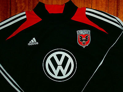 VTG RARE ADIDAS DC UNITED JERSEY football kit Soccer Gear Mens L USA dream team