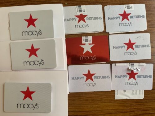MACYS GIFT CARD EXCHANGES TOTALING $319.09