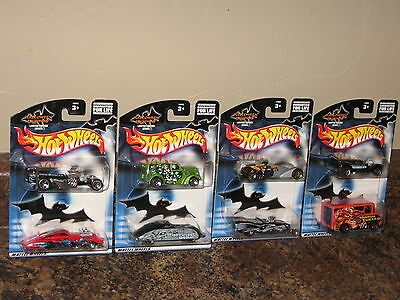 Hot Wheels Lot of 4 2002 Halloween Highway Fright Cars 2 Packs 8 Total Cars!