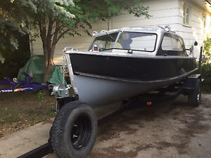 1957 Crestliner with motor and trailer for sale!