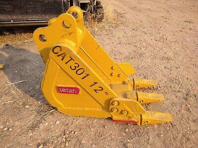 New Caterpillar 301 Mini Excavator 12 Digging Bucket Emaq Teran 12 Inch Cat
