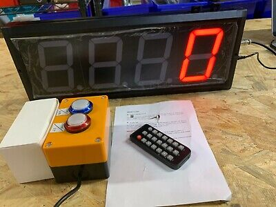 Btbsign Led Updown Counter W Switch Box Remote Red 4 Display 4 Digits New