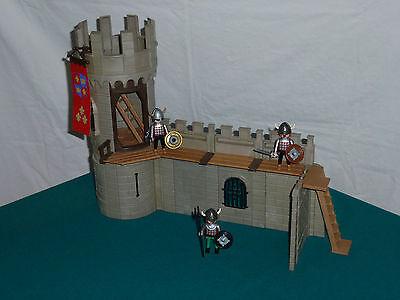 Playmobil Burgmauer, Rundturm, Wehrgang Ritter Ritterburg 3666 (772)