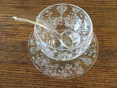 Cambridge Rosepoint Small Round Mayo and Underplate and spoon