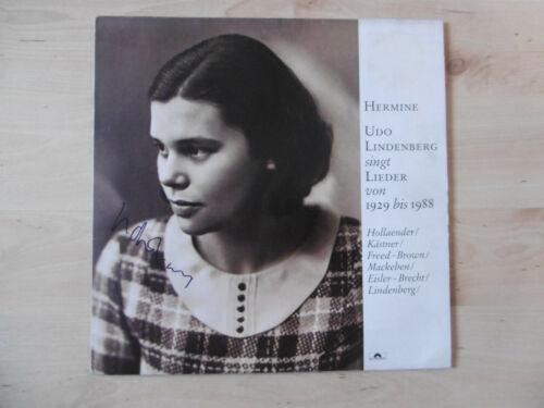"""Udo Lindenberg Autogramm signed LP-Cover """"Hermine"""" Vinyl"""