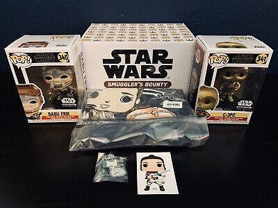 Funko Pop Star Wars Babu Frik 340 C-3PO 341 - Smuggler's Bounty Box - 5 Pc Set