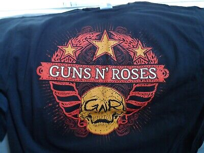 Guns N' Rosas - 2009-2010 Chino Democracy Gira Mundial Camiseta ~ Nunca...