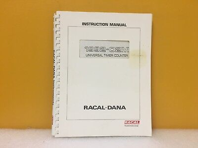 Racal-dana 1992-02m Universal Timercounter Instruction Manual