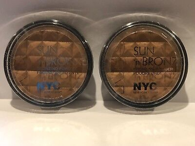 Lot of 2 NYC Sun'n'Bronze Bronzing Powder 707 Fire Island Tan