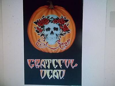 Grateful Dead Halloween (GRATEFUL DEAD POSTER Halloween Pumpkin & Roses OFF GRATEFUL DEAD MERCH 1989)