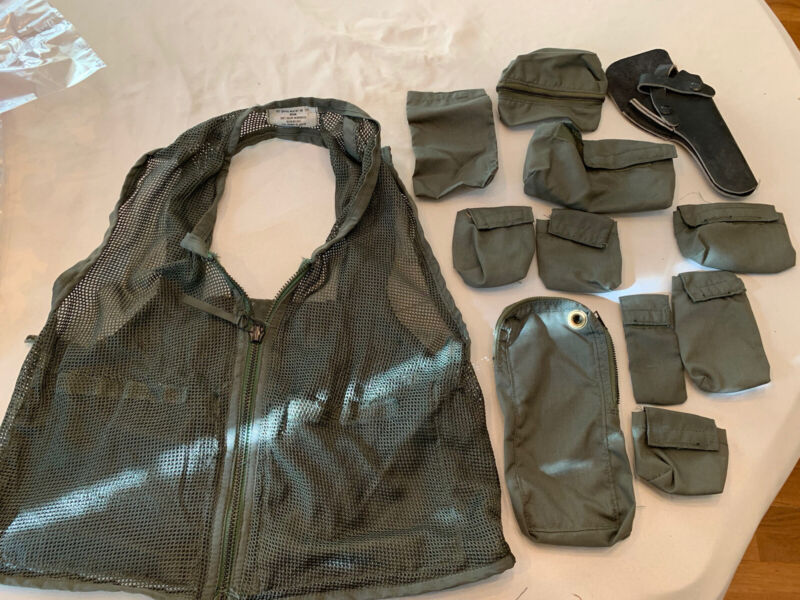 SRU 21P Survival Pilot Vest Large New Unissued With All Pockets And Holster