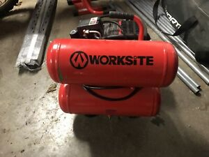 Brand new Worksite twin tank compressor