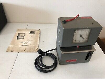 Lathem Industrial Time Clock Punch Card Recorder Nice With Key