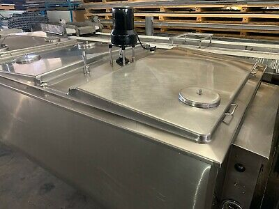 400 Gallon Stainless Refrigerated Tank With Agitator