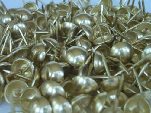 "100  Bright Brass Finish Dome Head Craft & Decorative Upholstery Tacks 7/16"""