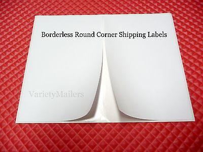 50 Round Corner Borderless Address Labels 8.25x 5.25 Ebay Paypal Etsy Shipping