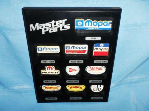 MOPAR Promotional Wall Display Emblem Logo Chronology Master Parts - Awesome!