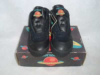 NOS VINTAGE 1993 AIRWALK BEYOND APOLLO GUYS SIZE 4.5 BLK/GREY SK8 BMX SHOES