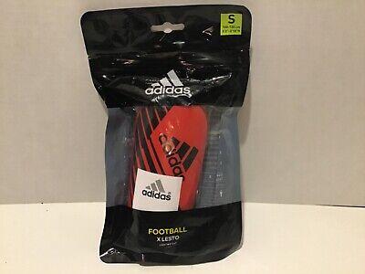 Adidas Red & Black Football X Lesto Shin Guards - size small Adidas Red Shin Guard