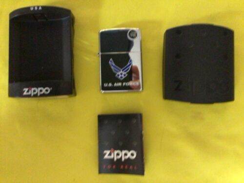 2004 Zippo U.S. Air Force lighter, new, unopened, with case